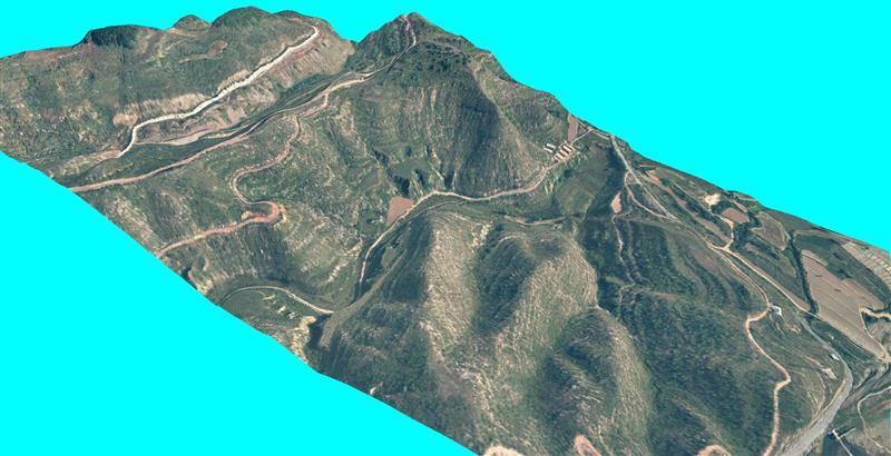 >蔡岭镇红线规划区内进行航空摄影测量1:1000地形图项目